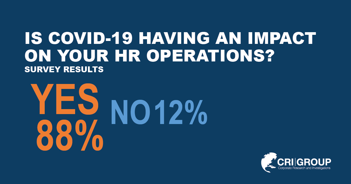 Background screening survey: COVID-19 is impacting HR