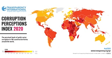 CPI 2020 overview: Middle East & Asia